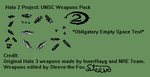 Halo 2 Project: UNSC Weapons Pack by Steeve-the-Fox