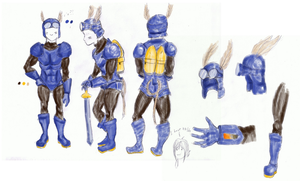 Sparkster- Cosplay bluesheet by TeamAquaSuicune