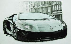 Lamborghini Aventador by LOLLIPOP007