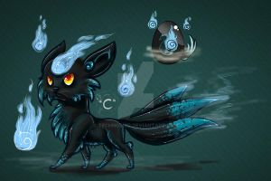 Kitsune Hatchling by TechnoBird