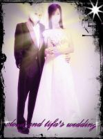 cloud and tifa's wedding pic by finaldreams7