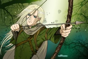 Legolas at Mirkwood by Neldorwen