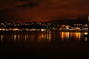 STHLM during night by PinkFuneral
