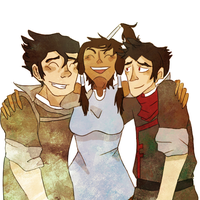 korra and her boys by finnick-odairs