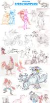 SKETCHDUMP 2012! (Part 1?) by killigann