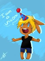 Happy birthday unicornn by SpadePanda