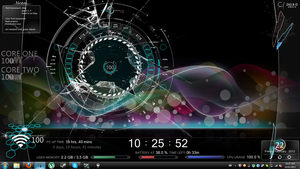 Rainbow Wave Rainmeter by XSleepingCielX