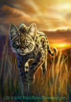 Savannah cat by BlackMysticA