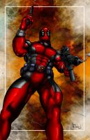 Deadpool Pin Up by ChrisMcJunkin