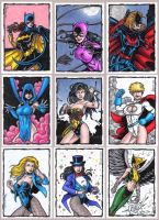 Ladies of DC Sketch cards by tonyperna