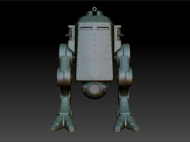 WWII Bipedal Tank-Front View by CAK1776