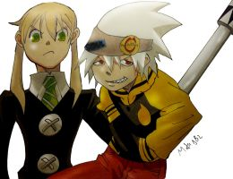 Maka and Soul by MikeES