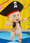 Baby Roger Pirate by BlazeHeartPanther