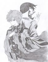 Suzaku and Lelouch by wintersreveille