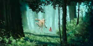 Red and The Wolf by prolificlifeforms