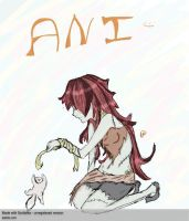 Ani with Cat by luehrsen