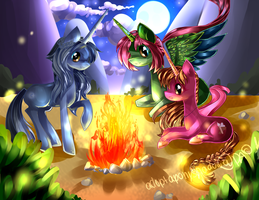 commission for Whysteria : midnight fire by AquaGalaxy