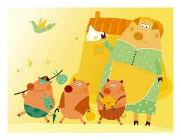 Three little pigs 1 by vleta