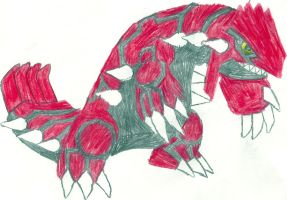Groudon Sketch by CoolMan666
