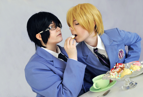 Ouran High School Host Club - Tama say Aaah ~ by Tohkoe