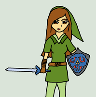 Link as a girl. And no it's NOT ME.........maybe. by WhizzPop