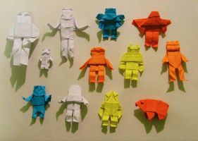 Origami Army by JubbenRobot