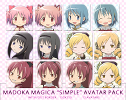Madoka Magica Simple Avatar Pack by Aelita59