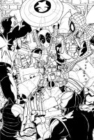 Deadpool vs the Marvel Zombies by Marvin000