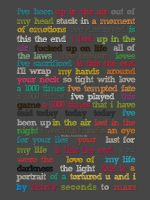 UP IN THE AIR LYRIC POSTER by lovelives4ever