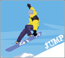 Snowboarder by radioactivity