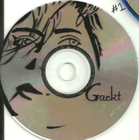 Gackt Paintings on CD Happy Bday by RevRuby