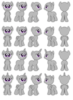 Female pony Flash puppets by AleximusPrime