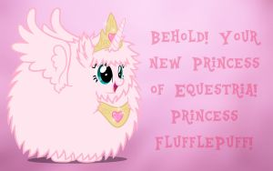 Princess Fluffle Puff Wallpaper by Brandatello