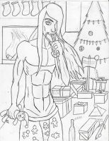 Merry Christmas Toki Uncolored by Colour-of-Dreams