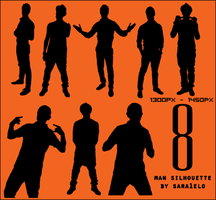 8 Male Silhouettes by sara1elo