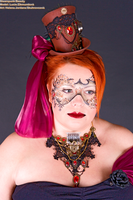 Steampunk facepainting and props by KilledCZ