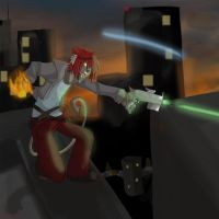 Fire and lazers by Natomi