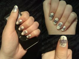 Music Nail Art by KaleidoscopeEyes97