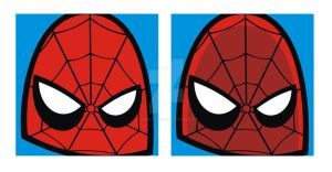 Spiderman Square Faces by HeadsUpStudios