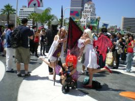 Pyramid Head with girls by obitoxuchihaxlover