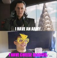 Loki VS. Markiplier: I Have Cheese Glasses by WorldwideImage