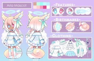 Aria Mascot Reference by whitepaperrabbits