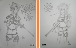 [Timeline] Caitlyn Concepts 2013 and 2014 by NyanDynamiX