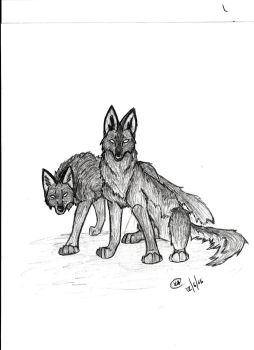 Mysteriouse wolves by fenderbender368
