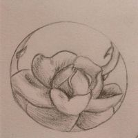 rose circle tattoo design by official-smiley