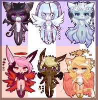 Angels and Demons adopt ::CLOSED!!:: by FearlesslyLiving
