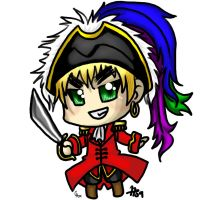 Collab - Pirate Arthur chibi by haos-shaman-queen