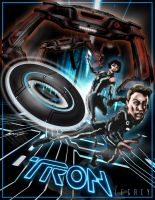 TRON Legacy poster art by gforrydesign