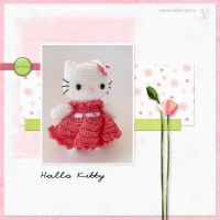 Hello Kitty amigurumi by Keila-the-fawncat