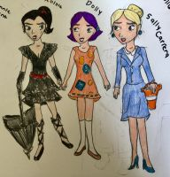 Bonnie Hunts characters Humanized  by Paleogirl47